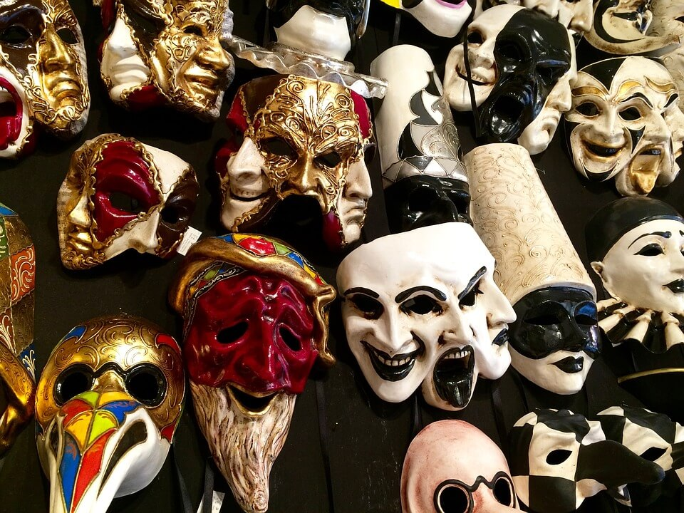 Historia de las máscaras venecianas