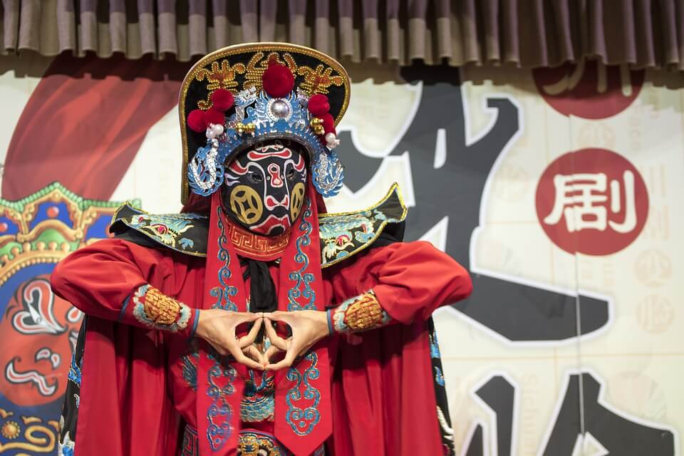 mascaras chinas para la opera