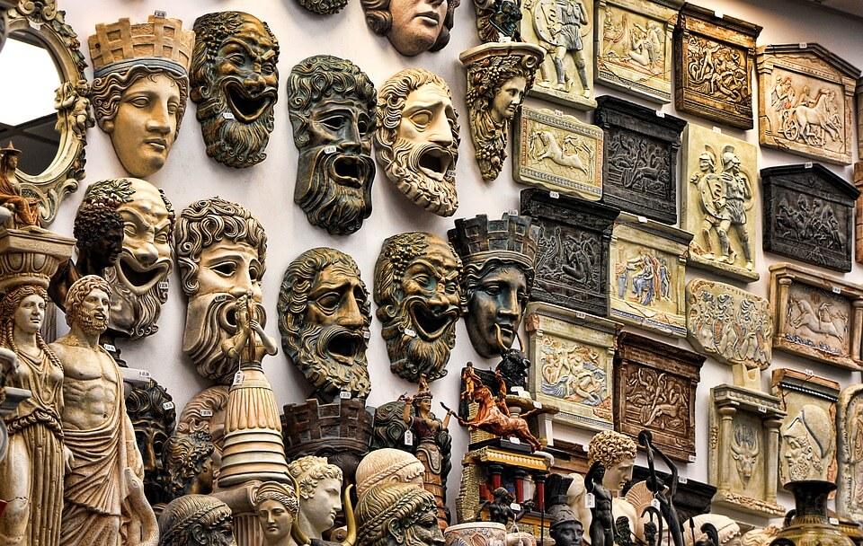 Máscaras de Teatro de la Antigua Grecia