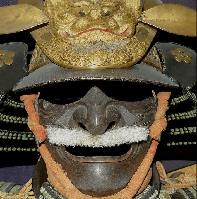 tipos de máscaras usadas por los samurái en el Japón feudal