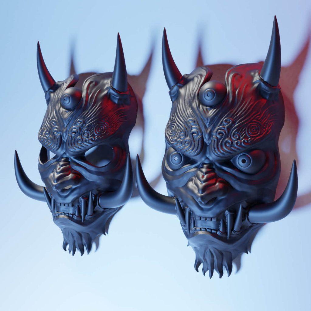 máscaras de oni