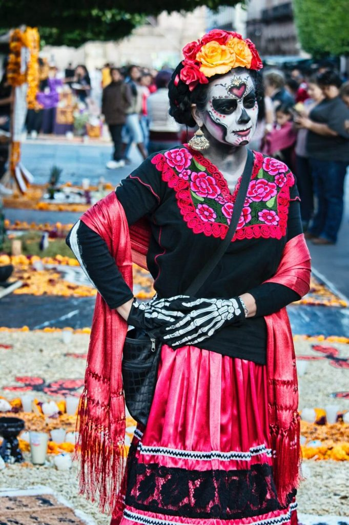 mascara del dia de los muertos